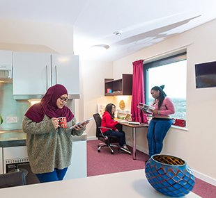 Students in the accommodation